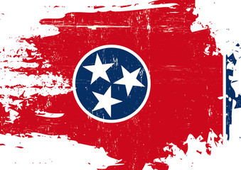 Scratched Tennessee Flag