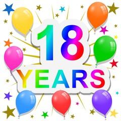 18 Years anniversary