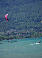 lac du bourget - kite-surf