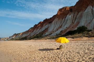 Yellow umbrela