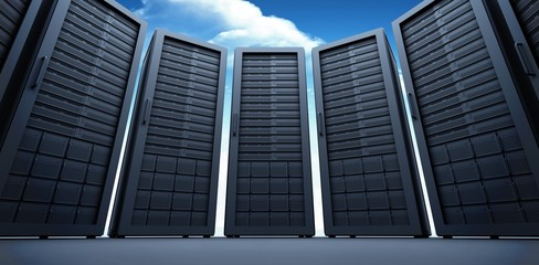 Composite image of server room