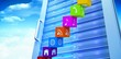 Composite image of app steps