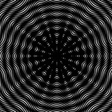 Moire pattern, monochrome background with trance effect. Optical poster