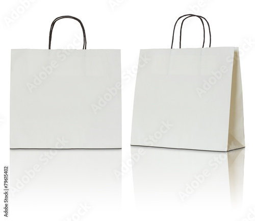 paper bag on white background - 79615402