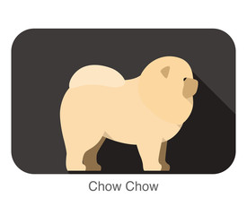Chow Chow dog breed flat icon design