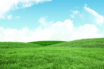 A green Field and sky