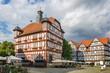 Leinwanddruck Bild - Downtown of Melsungen, Germany