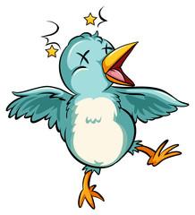 Blue baby bird