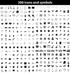Set of icons and symbols