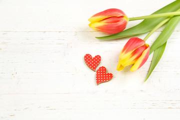Tulpen mit Herzen