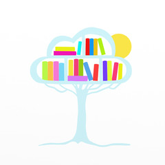 my data in the cloud on a tree