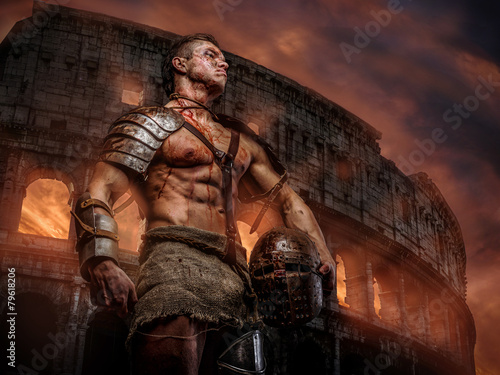 Roman soldier after the fight - 79618206