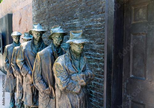 In de dag Historisch mon. Franklin Delano Roosevelt Memorial Washington