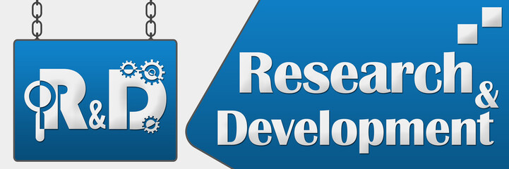 R And D - Research And Development Signboard Horizontal