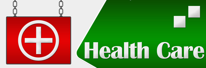Health Care Signboard Horizontal