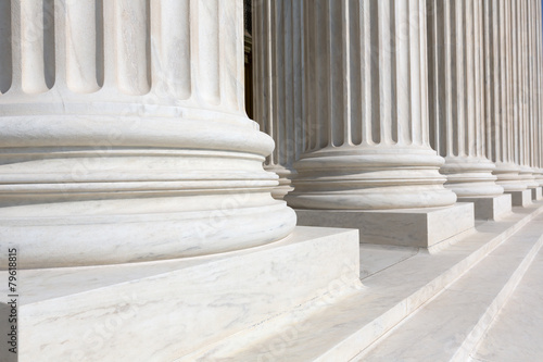 Leinwandbild Motiv Supreme Court of United states columns row