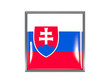 Square icon with flag of slovakia