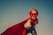 canvas print picture - Child superhero portrait