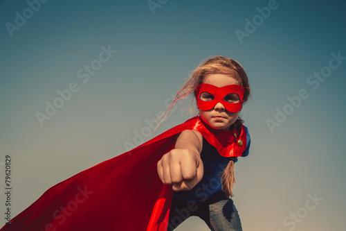 Leinwanddruck Bild Child superhero portrait