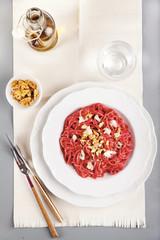 red beetroot pasta