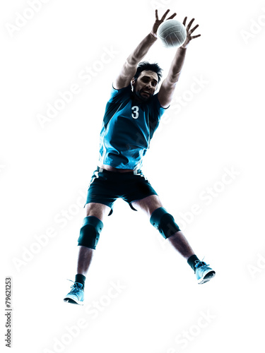 man volleyball  jumping silhouette Poster
