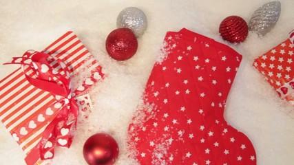 Close up PAN of christmas decoration