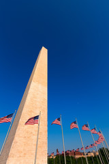 Washington Monument in District of Columbia DC
