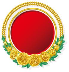 金の薔薇とフレーム
