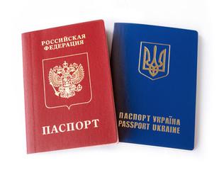 Ukrainian and Russian ID passports