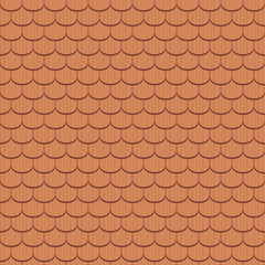 Beaver tail tile, ancient - seamless tileable