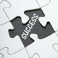 Success Jigsaw Puzzle with a missing piece