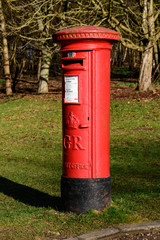 Red, British Royal Mail post box