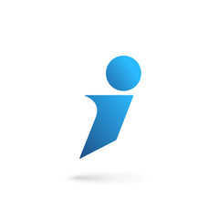 Letter I logo icon design template elements