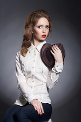 fashion beautiful young woman