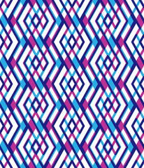 Bright abstract seamless pattern with interweave lines. Vector p