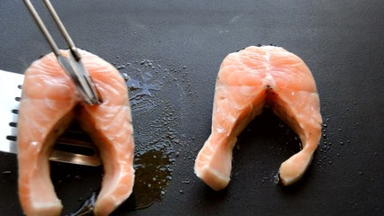 Flipping The Salmon Over