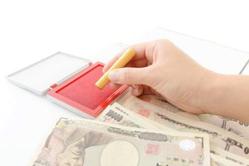 日本の紙幣と印鑑