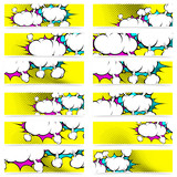 Fototapety Retro pop art style comic book explosion web header footer colle