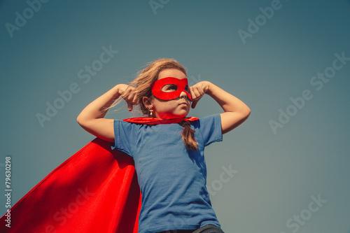 Child superhero portrait - 79630298