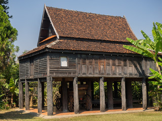 Old traditional Thai style house, in Lampang, Thailand