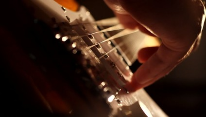 Electric Guitar Strings and Fingers