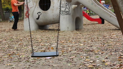 Empty Swing at Playgound