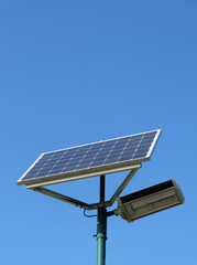 Solar powered streetlamp