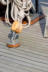 Sailboat block and rope detail