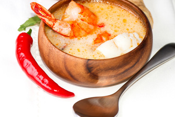 Shrimp and fish soup Thai traditional food