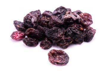 dried raisins fruit isolated on white background