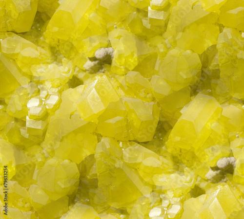 Seamless sulphur crystal background. - 79633254