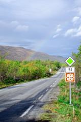 Rainbow on scenic road 51 vertical