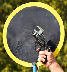 Start gun of the running race