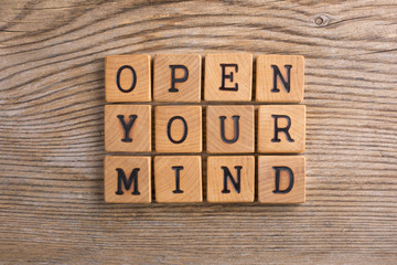 "Pannello ""Open your mind"""